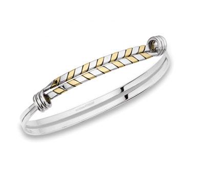 E.L. Designs Ed Levin Studio Bracelets BR115, HERRINGBONE SIGNATURE, Hawkins House Craftsmarket, Bennington, VT