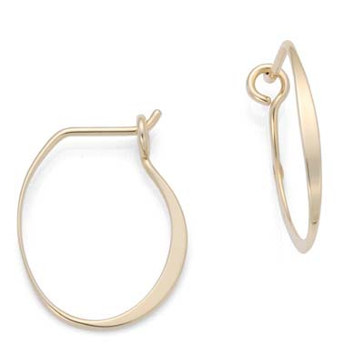 Ed Levin Earrings EA077, OLIVIA HOOP, Hawkins House Craftsmarket, Bennington, VT