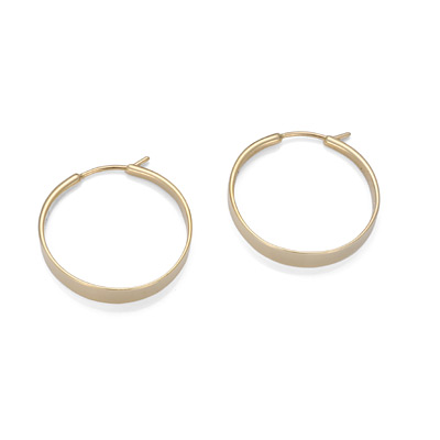 Ed Levin Earrings EA082, CLASSIC FORGED HOOP, Hawkins House Craftsmarket, Bennington, VT