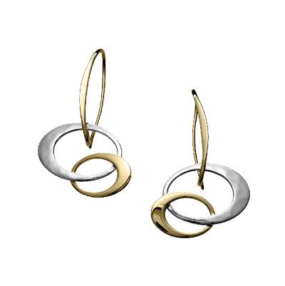 Ed Levin Earrings EA391, PETITE ENTWINED ELEGANCE, Hawkins House Craftsmarket, Bennington, VT