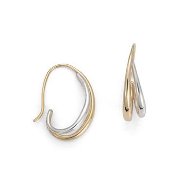 E.L. Designs Ed Levin Studio Earrings EA596, DUO'S HOOP, Hawkins House Craftsmarket, Bennington, VT