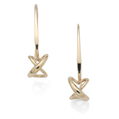 Ed Levin Earrings EA693 - DANGLING SECRET HEART - Sterling Silver / 14K Gold - Hawkins House Craftsmarket, Bennington, VT