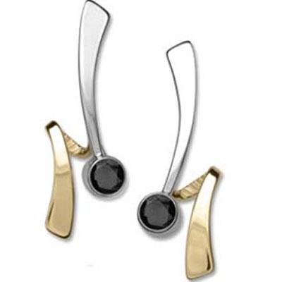 Ed Levin Earrings EA747, WRAP AROUND, Hawkins House Craftsmarket, Bennington, VT