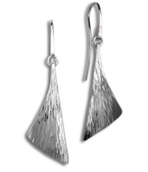 E.L. Designs Ed Levin Studio Earrings EA748, WATER, Hawkins House Craftsmarket, Bennington, VT
