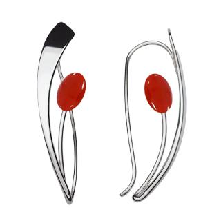 Ed Levin Earrings EA776, TULIP, Hawkins House Craftsmarket, Bennington, VT