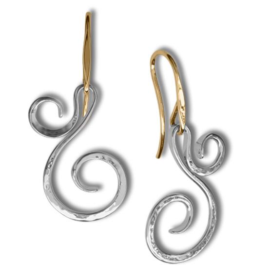 Ed Levin Earrings EA779, FIDDLEHEAD, Hawkins House Craftsmarket, Bennington, VT