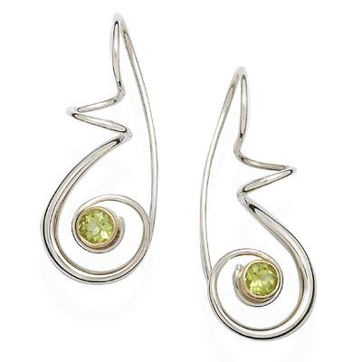 E.L. Designs Ed Levin Studio Earrings EA787, CLEF, Hawkins House Craftsmarket, Bennington, VT