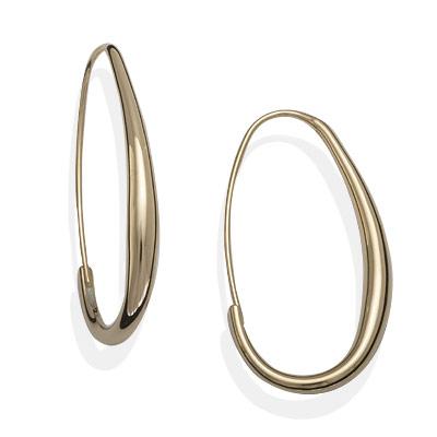 E.L. Designs Ed Levin Studio Earrings EA808, OVAL HOOPS, Hawkins House Craftsmarket, Bennington, VT