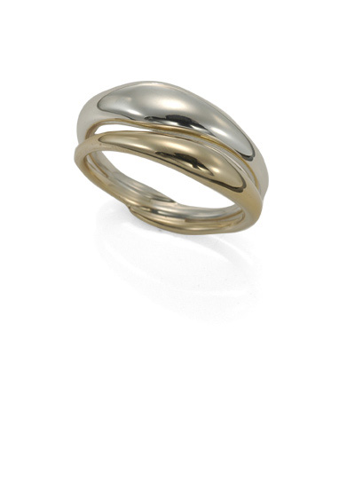 Ed Levin Rings RI523 - REFLECTING RING - Sterling Silver with 14K Gold - Hawkins House Craftsmarket, Bennington, VT