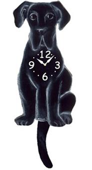 Pink Cloud Dog Clocks - Black Dane - Hawkins House Craftsmarket, Bennington, VT