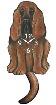 Pink Cloud Dog Clocks - Bloodhound - Hawkins House Craftsmarket, Bennington, VT