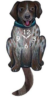 Pink Cloud Dog Clocks - German Shorthaired Pointer - Hawkins House Craftsmarket, Bennington, VT