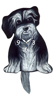 Pink Cloud Dog Clocks - Hairy - Hawkins House Craftsmarket, Bennington, VT