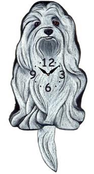 Pink Cloud Dog Clocks - Maltese - Hawkins House Craftsmarket, Bennington, VT