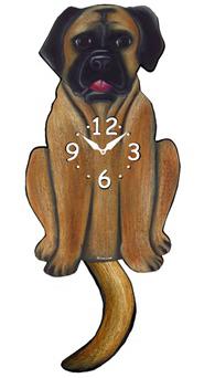 Pink Cloud Dog Clocks - Mastiff - Hawkins House Craftsmarket, Bennington, VT