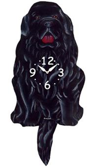 Pink Cloud Dog Clocks - Newf - Hawkins House Craftsmarket, Bennington, VT