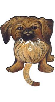 Pink Cloud Dog Clocks - Pekingese - Hawkins House Craftsmarket, Bennington, VT