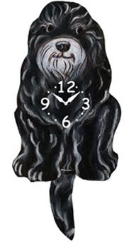 Pink Cloud Dog Clocks - Schnoodle - Hawkins House Craftsmarket, Bennington, VT