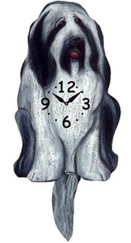 Pink Cloud Dog Clocks - Sheepy - Hawkins House Craftsmarket, Bennington, VT