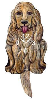 Pink Cloud Dog Clocks - Tan Cocker - Hawkins House Craftsmarket, Bennington, VT