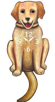 Pink Cloud Dog Clocks - Yellow Lab - Hawkins House Craftsmarket, Bennington, VT
